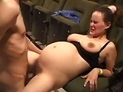 Lewd preggo sucks and jumps on dick