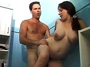 Pregnant girl gets cumload in mouth